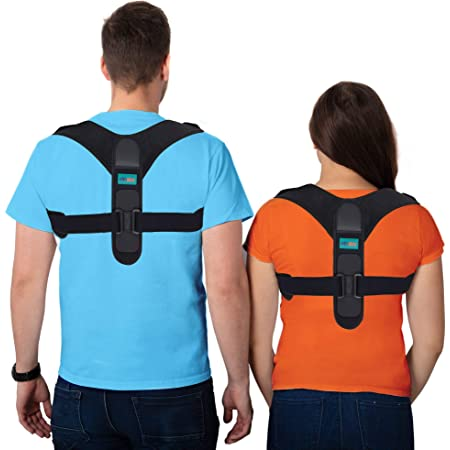 ellostar Corrector de postura, mejora la postura de la espalda para hombres y mujeres, todos los tamaños, alisador de apoyo de espalda ajustable para apoyo de la columna vertebral y proporciona alivio del dolor desde el cuello, la espalda y el hombro