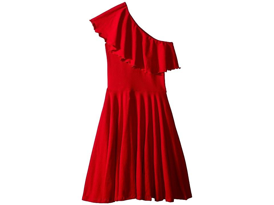 fiveloaves twofish Zoe One Shoulder Knit Dress (Little Kids/Big Kids) (Red) Girl