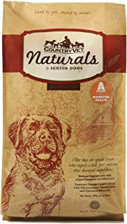 Country Vet Naturals Senior 24/10 Protein Formula Probiotic Dog Food (Chicken And Brown Rice) 35 Pounds