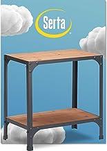 Serta Overland Side Table, Natural & Black