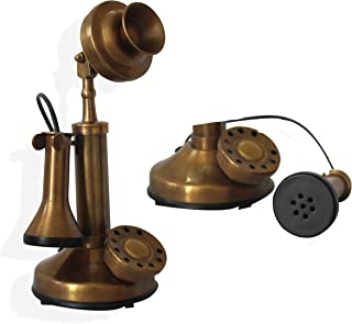 Antique Miniature Vintage Rotary Dial Office Candlestick Phone Replica Desktop Ornament Home Decorative Table Telephone Show case Gift Article