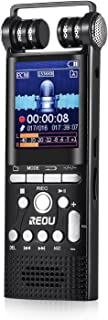 Voice Recorder REOU 16GB Digital Audio Sound Recorder Dictaphone, USB Voice Activated Recorder with MP3 Player, A-B Repeat, Including E-Book/Calendar/Stopwatch/Alarm Clock/etc.