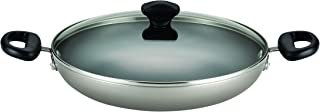 Farberware Dishwasher Safe Nonstick Aluminum 11.25-Inch Covered Everything Pan, Champagne