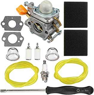 HIPA 308054003 Carburetor + Air Filter Adjustment Tool for Homelite 25cc UT20002 UT20003A UT20004 UT20006 UT20022 UT20023A UT20024 UT20026 UT20042 UT20043A UT20044A UT20044B UT20046 String Trimmer
