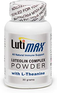 Luteolin Complex Powder with Rutin and L-Theanine - Powerful Immune Support-Supports Brain, Muscle, and Nervous System Health-30 Grams - 100 Servings