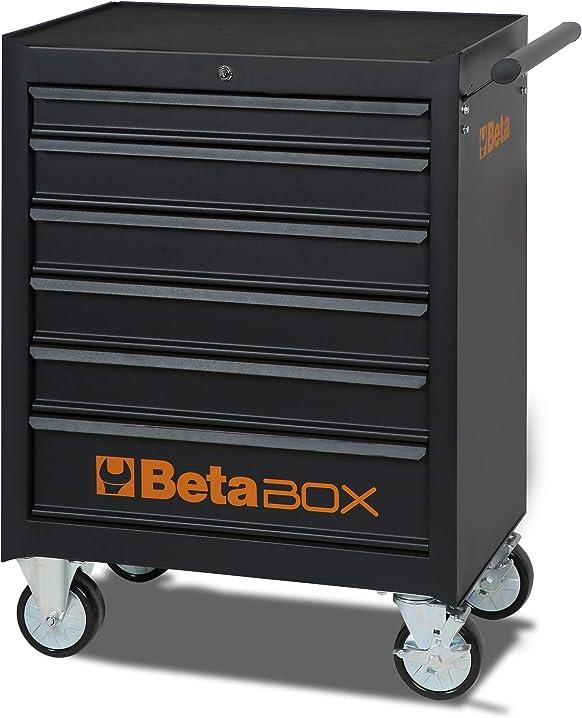 Cassettiera mobile beta c04box 6 cassetti colore nero 099804370-024002021 C04-BOX