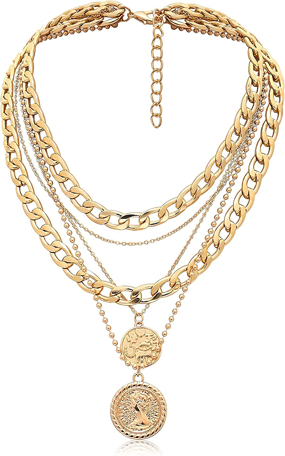 Dainty Disc Chokers Necklace Set Layered Circle Necklace Bar Y Pendant Necklace Necklace for Women