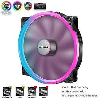 upHere PWM RGB LED Ventilador de Carcasa de Ordenador 200 mm de Alto Flujo de Aire bajo Ruido PC Ventilador de refrigeración/P200RGB