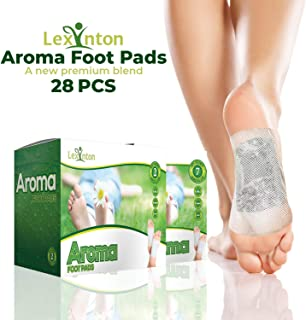 Foot Pads by Lexinton   All Natural & Premium Ingredients Patches Set Bamboo Vinegar Based, Weight Loss, Full Body Cleanse, Pain Relief, Organic Herbal Japanese Plant Based Foot Pack