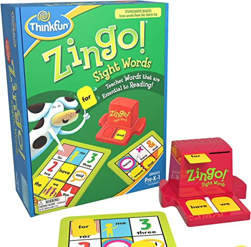 ThinkFun Zingo Sight Words Award Winning Early Reading Game for Pre-K to 2nd Grade - Toy of the Year Finalist, A Fun ...