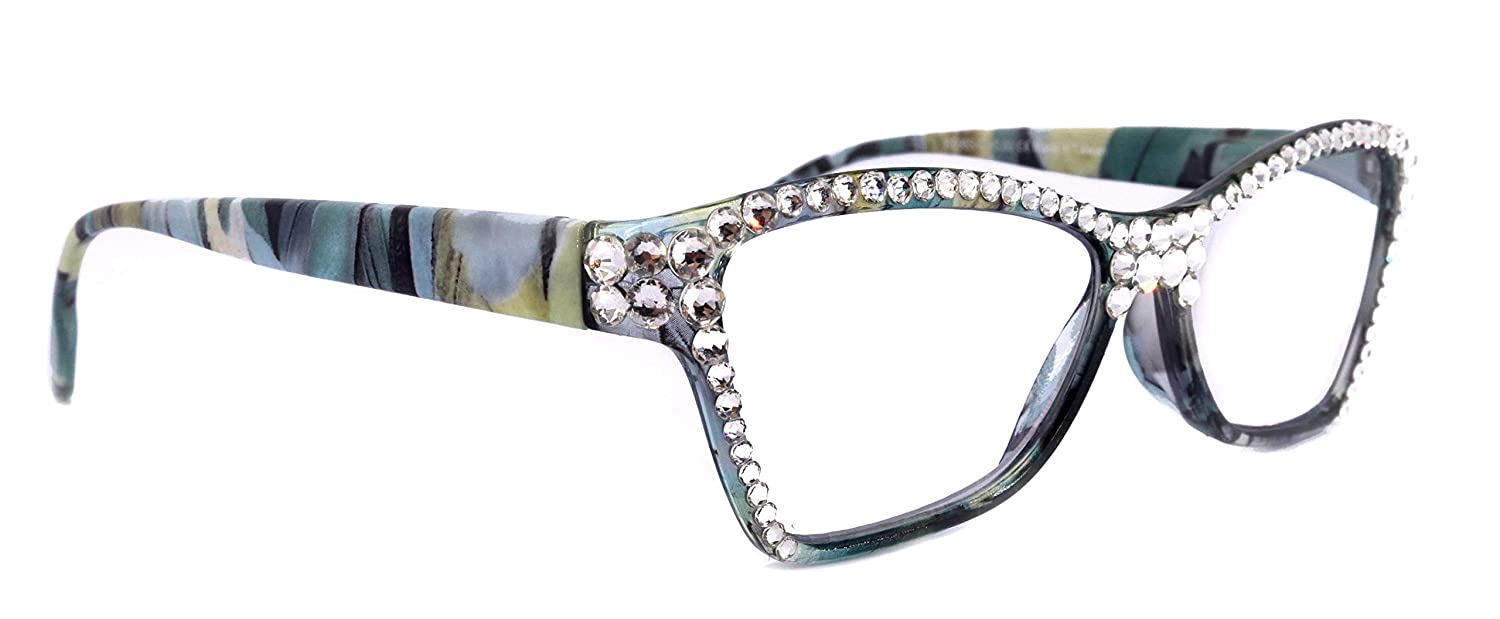 Reading Glasses For Women Adorned Genuine Crystal +1.50 +1.25 W Al depot sold out.