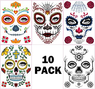 51020 Pieces Dia de los Muertos 10 or 20 Bronze Day of the Dead Skull Skeleton 21mm Charms Double Sided 5
