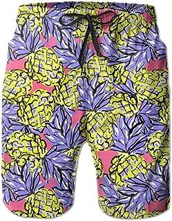 Lixinli Men's Pineapple Fruit Art Swim Trunks Beach Shorts