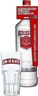 Smirnoff Red No. 21 Premium Vodka Triple Destilled, Wodka, Alkohol, Alkoholgetränk, Flasche mit Pumpe, 40%, 3 L, 715111, inklusive Gratis Glas