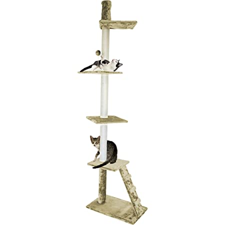 Furhaven Pet Cat Tree Tiger Tough Cat Tree House Perch Entertainment Playground Furniture For Cats And Kittens Ladder Playground Cream Pet Supplies