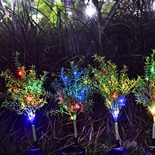Accinouter Solar Decorative Garden Stakes Light, Christmas Trees Colorful LED Decorations In-Ground Path Lights Decor for Garden Yard Patio Backyard Outdoor Landscape (2 Pack)