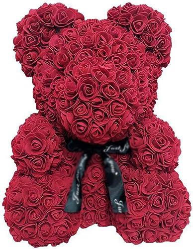 Rose Ours En Peluche Jouet Garçon Fille Douce Fleur Artificielle Mignon Fleur éternelle Calin Ours Cadeau D'anniversaire