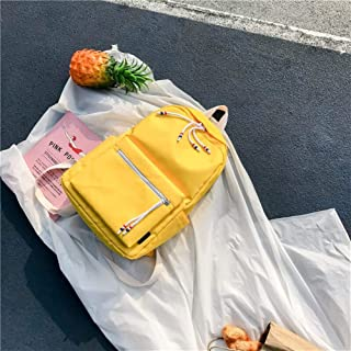 HYXADLY Schoolgirl Korean Version of High School Students Campus Versatile Simple Shoulder Bag Large Capacity (Color : Yellow)