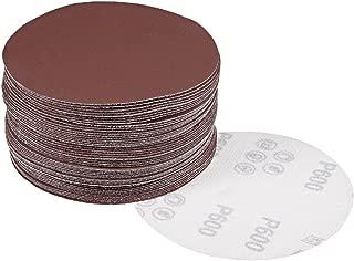 uxcell 50Pcs 5 Inch Hook and Loop Sanding Disc 600 Grits Flocking Sandpaper for Random Orbit Sander Brown