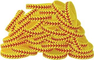 SayitBands 30 Softball Design Wristband Silicone Bracelet