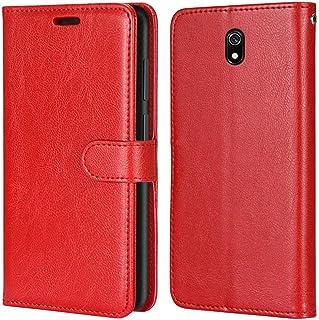 Laybomo Carcasa para Xiaomi Redmi 8A Tapa Funda Cuero Estilo-Sencillo Monederos Billetera Bolsa Magnética Protector Silico...