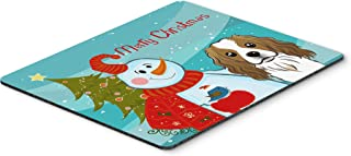 Caroline's Treasures BB1844MP Snowman with Cavalier Spaniel Mouse Pad, Hot Pad or Trivet, Large, Multicolor