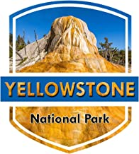 Vincit Veritas Yellowstone National Park Decal Sticker Car Rv Car Bumper US Travel Design S018
