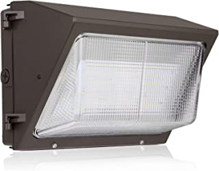 Hykolity 120W 15600lm High-Output LED Wall Pack,Brighter Than 400W MH,Photocell Optional, Outdoor Commercial LED Area Light,0-10V Dimmable,5000K Daylight, DLC Complied