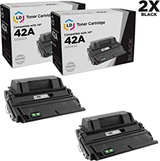 LD Compatible Toner Cartridge Replacement for HP 42A Q5942A (Black, 2-Pack)