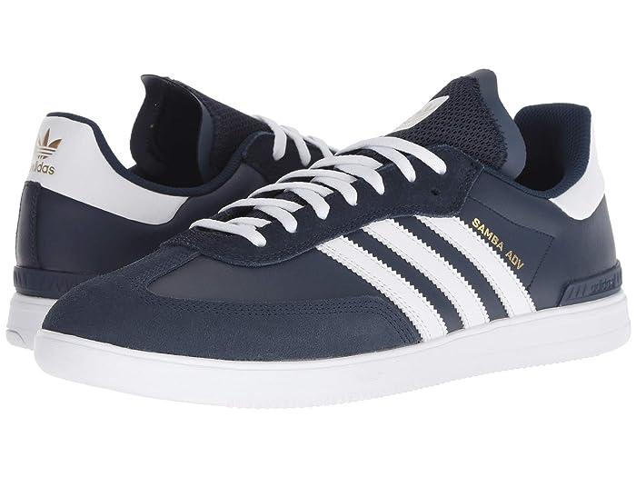 """ADIDAS """"Samba ADV"""" skate shoes navyburgundywhite"""