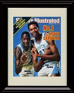 Framed Michael Jordan Sports Illustrated Autograph Print - North Carolina Tar Heels