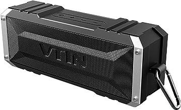 VTIN Punker Enceinte Portables Bluetooth, 30 Heure Haut-Parleur Extérieur Sans Fil avec Son Stéréo 20W Fort, IPX5 Imperméable,Crochet Détachable Haut-Parleur Portable