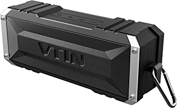 Vtin 20W Bluetooth Speakers, V5.0 Portable Bluetooth Speaker with TWS, 30H Long Playtime, Loud Stereo Sound, IPX6 Waterproof Speaker, Detachable Hook, Wireless Speaker for home, Backyard, Pool, Party