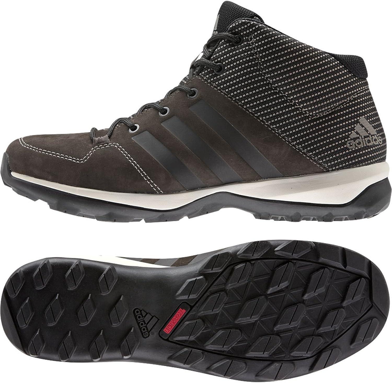 Adidas Daroga Plus Mid Lea Hiking skor, svart  granit  natt metallic,oss 8.5
