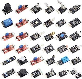 HiLetgo 37センサーアソートキット センサモジュール スターター キット Arduinoに対応 開発キット37共通のセンサー 電子スイート [並行輸入品]