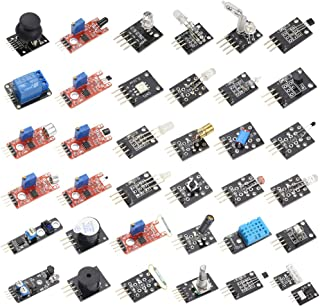 HiLetgo 37 Sensors Assortment Kit 37 Sensors Kit Sensor Starter Kit Arduino Raspberry pi Sensor kit 37 in 1 Robot Projects Starter Kits for Arduino Raspberry pi