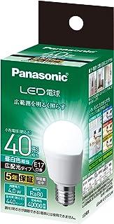パナソニック LED電球 口金直径17mm 電球40W形相当 昼白色相当(4.0W) 一般電球・広配光タイプ 断熱材施工器具 密閉形器具対応 LDA4NGE17ESW