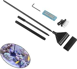QANVEE Aluminum Magnesium Alloy Scraper Cleaner Brush with 10 Stainless Steel Blade for Aquarium Fish Reef Plant Glass Tank