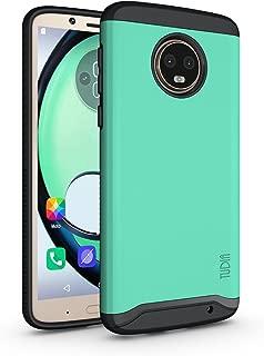 Motorola Moto G6 Plus Case, TUDIA Slim-Fit Heavy Duty [Merge] Extreme Protection/Rugged but Slim Dual Layer Case for Motorola Moto G6 Plus (Mint)