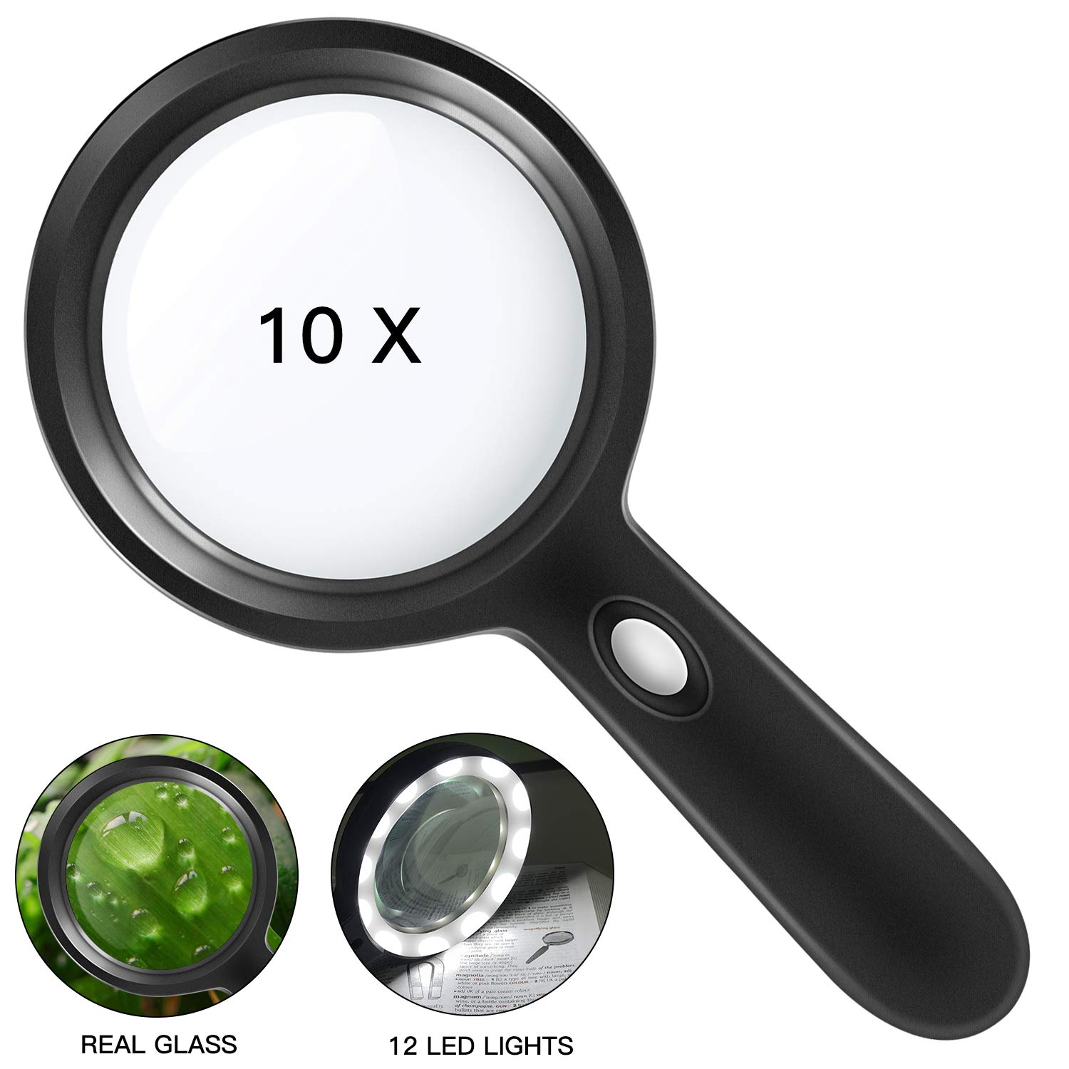 Magnifying Glass 10X Magnifier Soldering Inspection