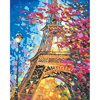 CHUNXIA DIY Oil Paint by Numbers for Adults and Kids,16x20 Inch Creative Enterntainment Relax Canvas Painting Street Walking Lover ZTY002-175