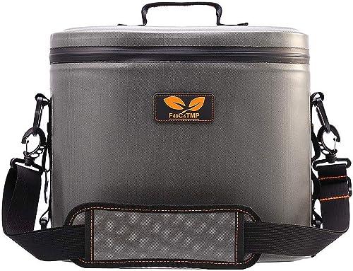 F40C4TMP Soft Sided Cooler, Sacs de Pique-nique, 11 CANS Ice Pack Cooler Bag, gris Sacs Plus Frais
