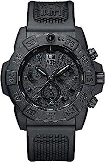 ساعة لومينكس البحرية الختم للرجال كرونوغراف سوداء للخارج (سلسلة XS.3581.BO / 3580): مقاومة للماء 200 متر + ساعة إيقاف + حا...