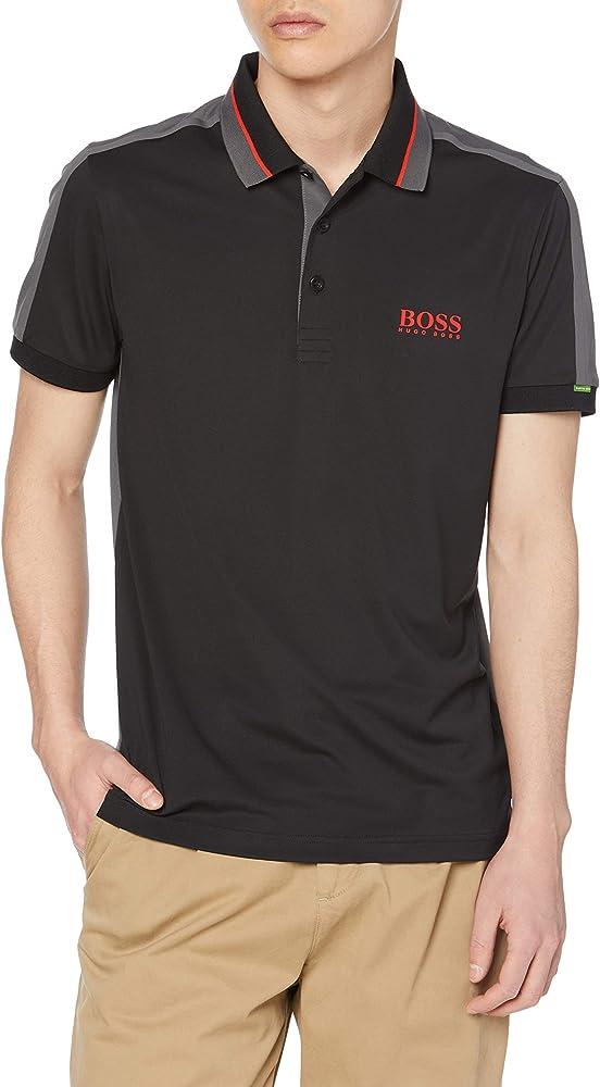 Boss polo , maglietta a maniche corte per uomo , 92% poliestere riciclato / 8% elastan 50448546A