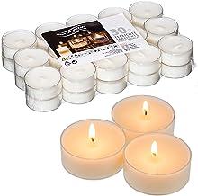 Candelo Kerzen Ambiente Lot de 30 bougies chauffe-plat dans un étui en plastique transparent
