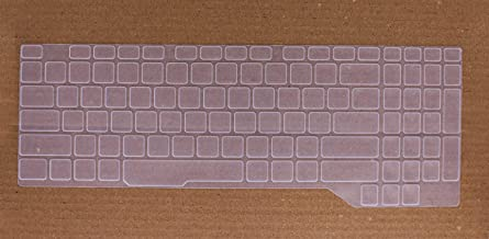 Saco Keyboard Silicon Protector for ASUS FX505 FX705, ROG Strix GL504 GL704GM GL704GV Gaming Laptop - Transparent