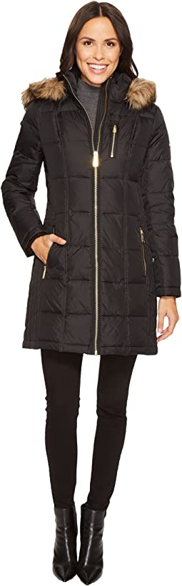 Zip Front Down with Faux Fur Trim Hood M821883T