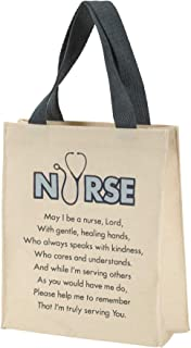 Nurse Prayer Cotton 8.5 X 10 Canvas Gift Tote Bag With Handles