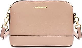حقائب طويلة تمر بالجسم للنساء، حقائب يد متوسطة الحجم خفيفة الوزن مزودة بحزام قابل للتعديل وأجزاء صلبة ذهبية