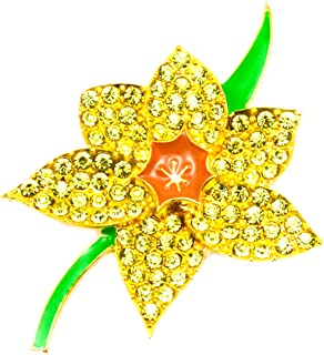 English Made Pewter Welsh Daffodil Flower Cufflinks     XWCL102